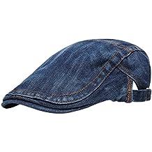 Panegy - Hombre Sombrero de Boina Bombines de Vaquero para Hombre con  Visera Corta Beret Gorro 36d91caa5e4