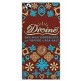 Divine Fairtrade Milk Chocolate - 38% Toffee & Sea Salt...