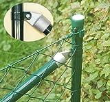 zaun-nagel Maschendraht - set Komplettset Gartenzaun Gitter Drahtzaun - Drahtgitter Zaun Zaunpaket Grün 25 m / 100 cm hoch mit allem Zubehör Karton verpackt