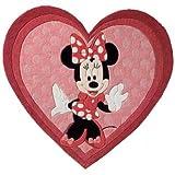 Disney Tappeto bambino Minni Fucsia 150x170 cm - Marchio di qualità TÜV - 100% Poliacrilico - Cartoni Animati - Taftato a Mano - Cameretta dei bambini