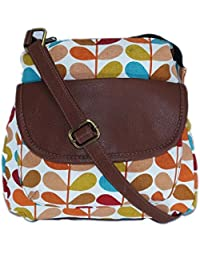 Amit Bags Beautiful Printed Canvas Sling Bag For Women's & Girls Multi Colour