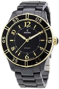 Festina - F16633-2 - Montre Femme - Quartz Analogique - Cadran Noir - Bracelet Autre Noir