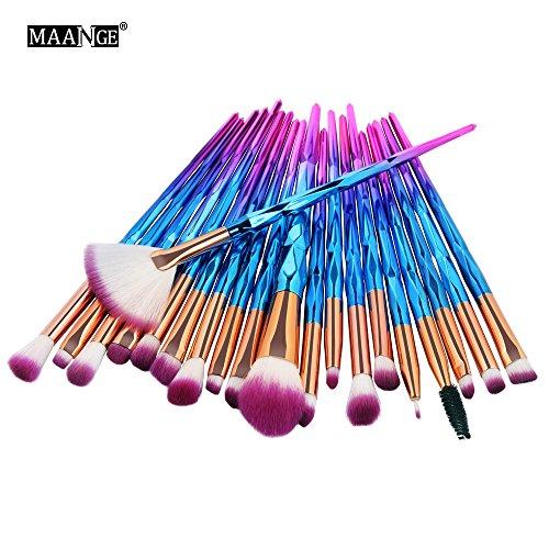 Elecenty pennelli professionali da trucco Pennelli cosmetici correttore Make Up Foundation Eyebel Eyeliner Blush 20 pezzi (C)