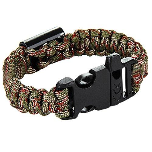 mamaison007-camping-parapluie-exterieur-corde-ouvreur-bracelet-durgence-survie-corde-noir