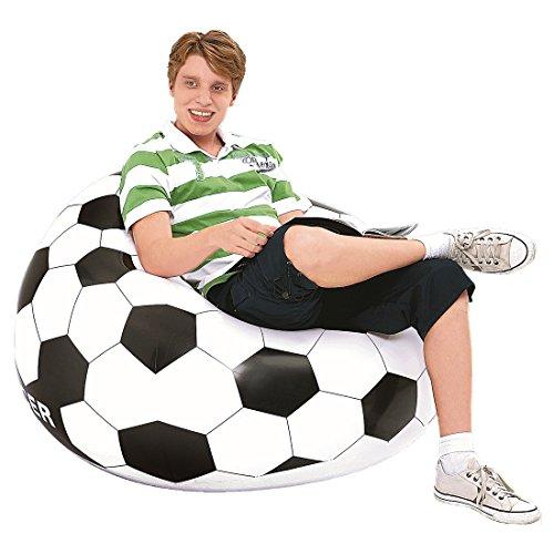 Jilong Soccer Chair 108x108x68 cm Fußball Kindersessel Kinder Sitzsack Sitzkissen Kindersofa Kinderstuhl, aufblasbar