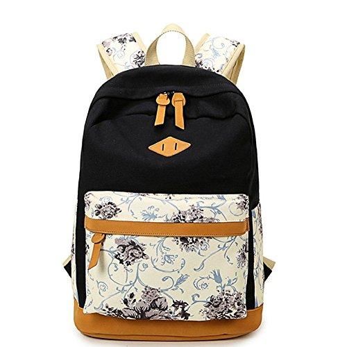 SymbolLife Rucksack Mädchen Teenager Schulrucksack Daypack Reisetasche Sports Wandern Rucksack für Universität Outdoor Freizeit Rucksäcke mit Mäppchen Geschenk 13*17,7*6,3in, - Teenager Für Sport-geschenke