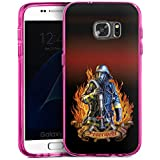 Samsung Galaxy S7 Bumper Hülle Bumper Case Schutzhülle Feuerwehrmann Feuerwehr Firefighter