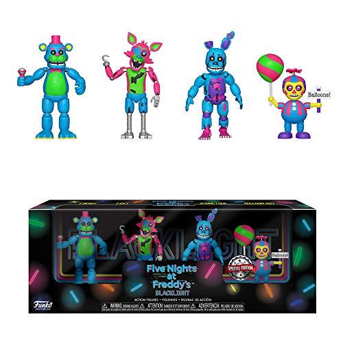 Five Nights at Freddy's Blacklight Action Figures Exclusive Freddy, Foxy, Springtrap, Balloon Boy