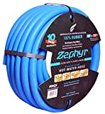 "Zephyr Next-gen Garden Hose (1/2"" x 50ft, Ultra-Light Flexible Rubber, No Fittings)"