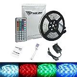 ALED LIGHT® 5m SMD 5050 Strisce LED Luce Impermeabile Flessibile Con Alimentatore E Telecomando 44 Keys Incluso