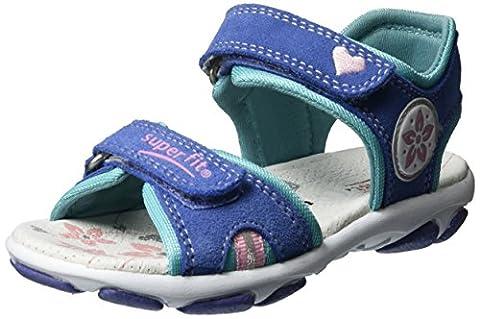 Superfit Mädchen Nelly 1 Offene Sandalen mit Keilabsatz, Blau (Lila Multi), 33 EU