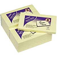 Snopake 127x76mm Sticky Notes - Yellow (Pack of 12 , 100 Sheets per Pad)