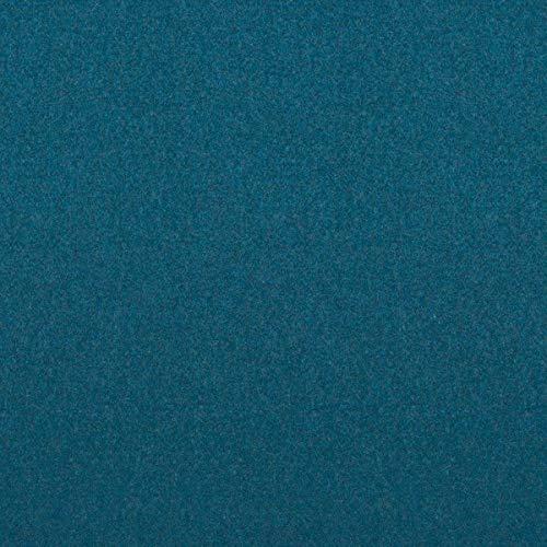 Tela para muebles de decoración inglesa, ignífuga, color azul, como tela de tapicería robusta, tejido acolchado para coser y relax, lana virgen, poliamida, aislamiento acústico, oscurecimiento