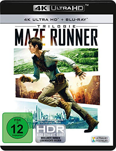 Maze Runner 1-3  (3 4K Ultra HD) (+ 3 Blu-ray 2D) (Blu Maze Ray-the Runner)