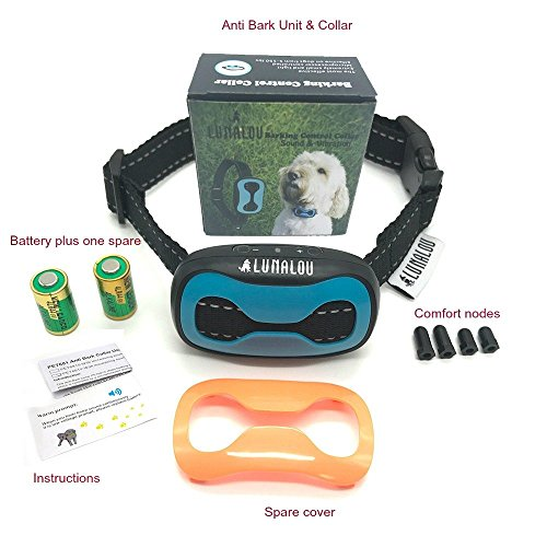 Lunalou-Sound-Vibration-Anti-Bark-Collar-Training-collar-for-small-dogs-and-medium-to-large-dogs-with-7-progressiveadjustable-levels-Full-Instructions-Frequently-Asked-Questions-provided