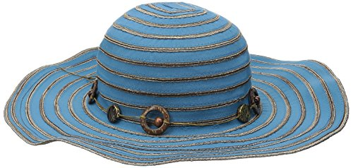 san-diego-hat-company-womens-4-inch-brim-ribbon-sun-hat-with-bead-trim-mosaic-blue-one-size