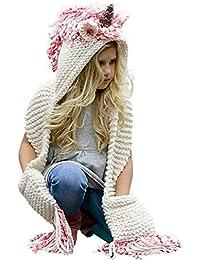 Tacobear sombrero de invierno para niñas lana de invierno lanas boinas sombreros chaquetas de cáscara de otoño y sombrero de invierno Baby Knit bufanda con un sombrero