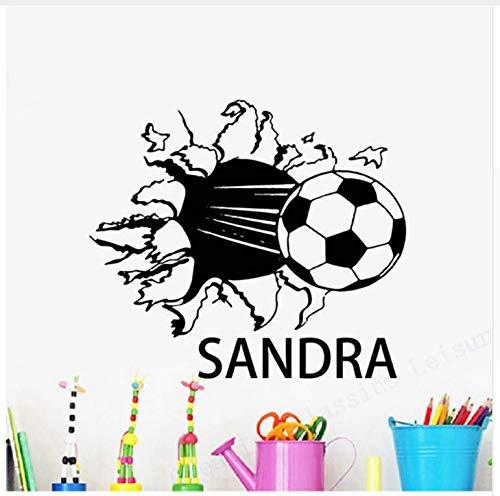 definierte Soccer Ball Name Aufkleber, Personalisierte Namen Mit Fußball Jungen Zimmer Wandtattoo Dekor 55 * 50 Cm ()