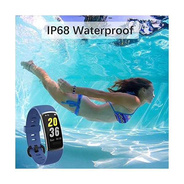 KUNGIX Pulsera Actividad Inteligente, Impermeable IP68 Pulsera Inteligente 0,96 Pulgadas Pantalla Color, Monitor Ritmo… 8
