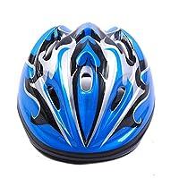 EP-Helmet Casco De Ciclismo para Niños 3-16 Años Niño De Alta Densidad PC + EPS Dibujos Animados Patinaje Infantil Ciclismo Niños Bicicleta Casco,Blue