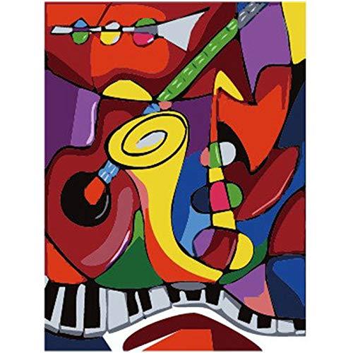 FULLLUCKY Saxophon Instrument Stillleben DIY Digitales Malen Nach Zahlen Moderne Wandkunst Leinwand Malerei Wohnkultur