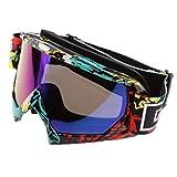 MagiDeal 1 Stück Motorrad Winddichte Brille für Outdoor-Sportarten aus Schwamm+Kunststoff - Bunt