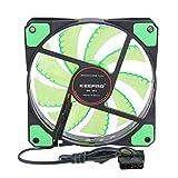 Prettygood7 Lüfter für Computergehäuse, 15 LEDs, 12 V, Neonfarben grün