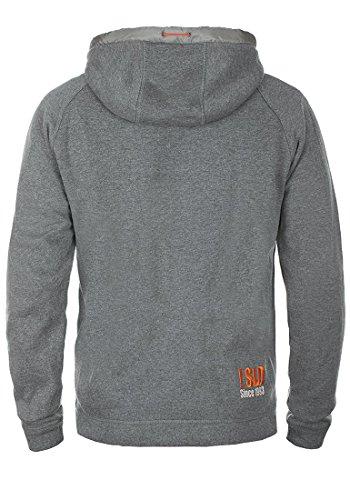 SOLID BenjiZip Herren Sweatjacke Kapuzen-Jacke Zip-Hoodie aus hochwertiger Baumwollmischung Grey Melange (8236)