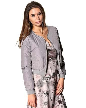 KAFFE Mona Quiltet Damen Jacke in grau (34)