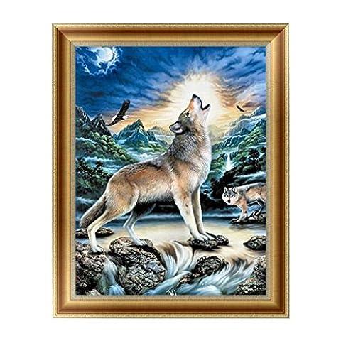 Dairyshop 5D Diamond ainting Wolf Embroidery Cross Stitch Craft Home Decor