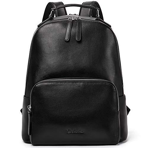 BOSTANTEN Damen Leder Rucksack 14 Zoll Laptoprucksack Vintage Reiserucksack Casual Backpack Daypacks Schwarz