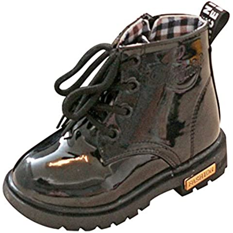 SAGUARO® Unisex Niños Botas con impermeable de cuero Martin Botas Zapatos Niños Invierno Nieve