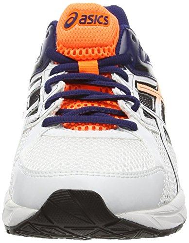 ASICS - Gel-Contend 3, Scarpe Da Corsa da uomo Bianco (White/Hot Orange/Indigo Blue 0130)