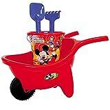 Mickey Mouse Sandspielzeug Schubkarre mit Eimergarnitur und Zubehör geeignet ab
