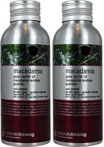 Set de dos botellas de Aceite de Macadamia 100ml cada una.cada botella de lujo de aluminio reusable. Envío super rápido desde España