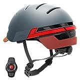 Livall bh51t Fahrradhelm mit Fernbedienung und 270Grad integrierter LED-Kontrollleuchten, unisex, BH51T, Blau - Misty Blue, Nicht zutreffend