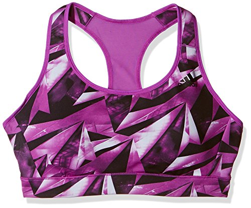 Mesh Back Sports Bra (adidas Damen Sport BH Racer-Back Printed Shock Purple, S/CD)