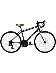 Ironman KOA 26, unisex jóvenes bicicleta de carretera, 14velocidades, rueda de 26pulgadas, Negro/Verde