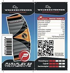 Wolkenstürmer Paraflex Trainer 2.3 Actionkite - 3 Leiner Lenkmatte zum Mountainboardfahren