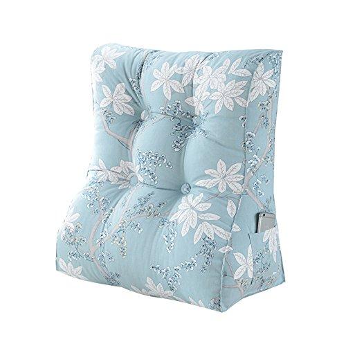 C&L Coussin Triangle, Coussin de canapé Coussin de cou Grand coussin de chevet Dossier de chaise de bureau Coussin Oreiller de lit Protection du cou Taille Dossier Haut45-55cm ( taille : 45*30*55cm )