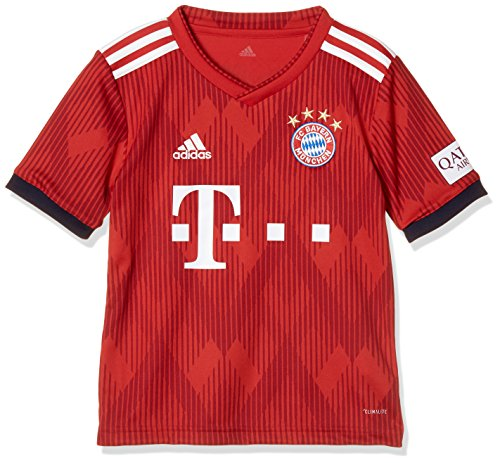adidas Kinder 18/19 FC Bayern Home Trikot FCB True Strong red/White, 164