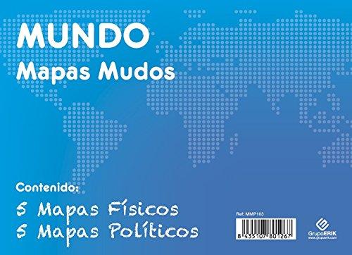 GRUPO ERIK EDITORES, S.L. - Pack mapas mudos es Mundo