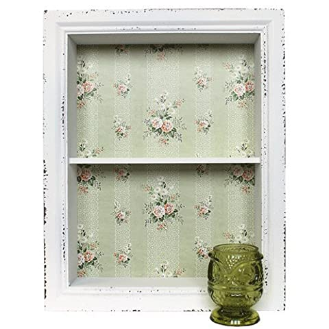 French Vintage Style Framed Box Shelf For