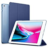 #7: Robustrion Smart Trifold Hard Back Flip Stand Case Cover for New iPad 9.7 inch 2018/2017 5th 6th Generation Model A1822 A1823 A1893 A1954 - Navy