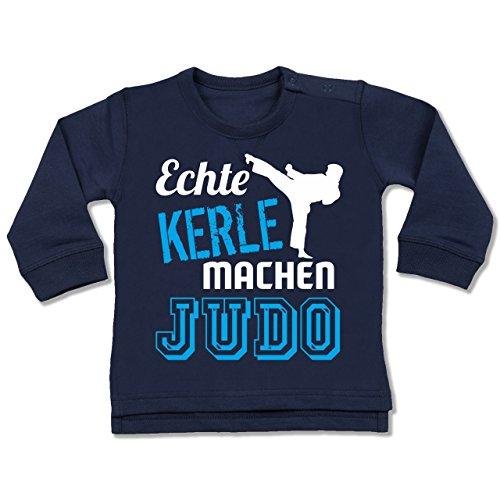 Sport Baby - Echte Kerle machen Judo - 12-18 Monate - Navy Blau - BZ31 - Baby Pullover