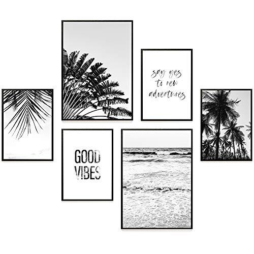 Heimlich® Premium Poster Set | Stilvoller Mix an passenden Bildern für Dein Zuhause | ohne Rahmen » Good Vibes « (Kostenloser Poster Versand)