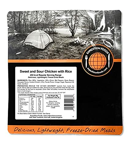 Expedition Foods Sweet and Sour Chicken with Rice (Regular Serving)