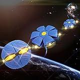 Giocattoli educativi,WINWINTOM Unisex Disco volante a forma di UFO Deformation Ball Soccer 3 Luci a LED Magic Flying Football Lancio piatto Palla giocattolo gioco Regalo del capretto (Blu)