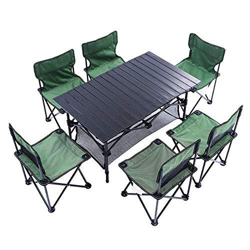 MUMM Picknicktische Klapptisch Faltbarer Hochleistungsklapptisch 6 Personen Klapptisch Und Stuhl Set Geeignet for Outdoor Indoor oO