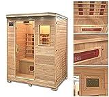 Home Deluxe – Infrarotkabine – Redsun L – Keramikstrahler – Holz: Hemlocktanne - Maße: 153 x 110 x 190 cm – inkl. vielen Extras und komplettem Zubehör - 2
